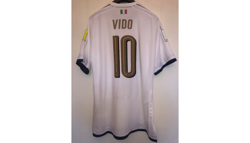 Vido's Italy U20 Match Shirt, World Cup 2017