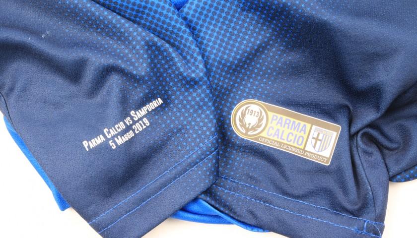 Bastoni's Worn Kit, Parma-Sampdoria - #Blucrociati