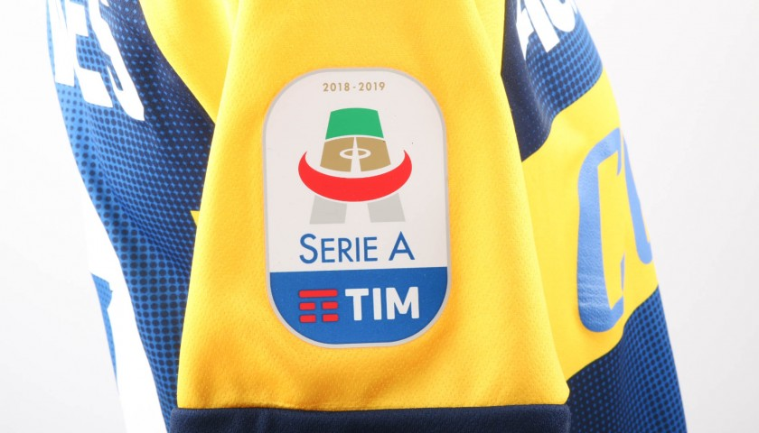 Bruno Alves' Worn Shirt with Special UNICEF Patch, Milan-Parma