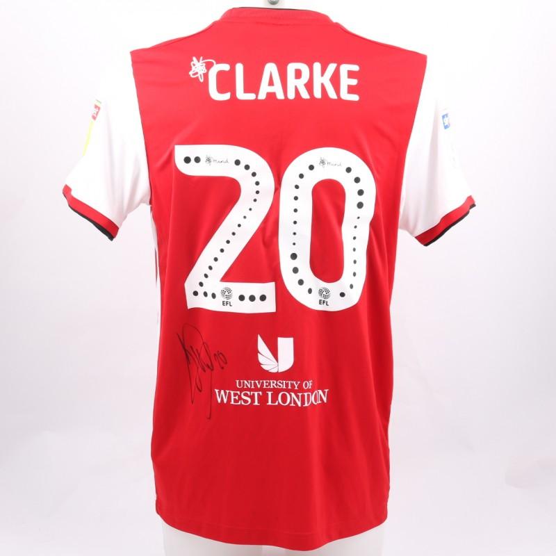 Clarke's Brentford Worn and Signed Poppy Shirt