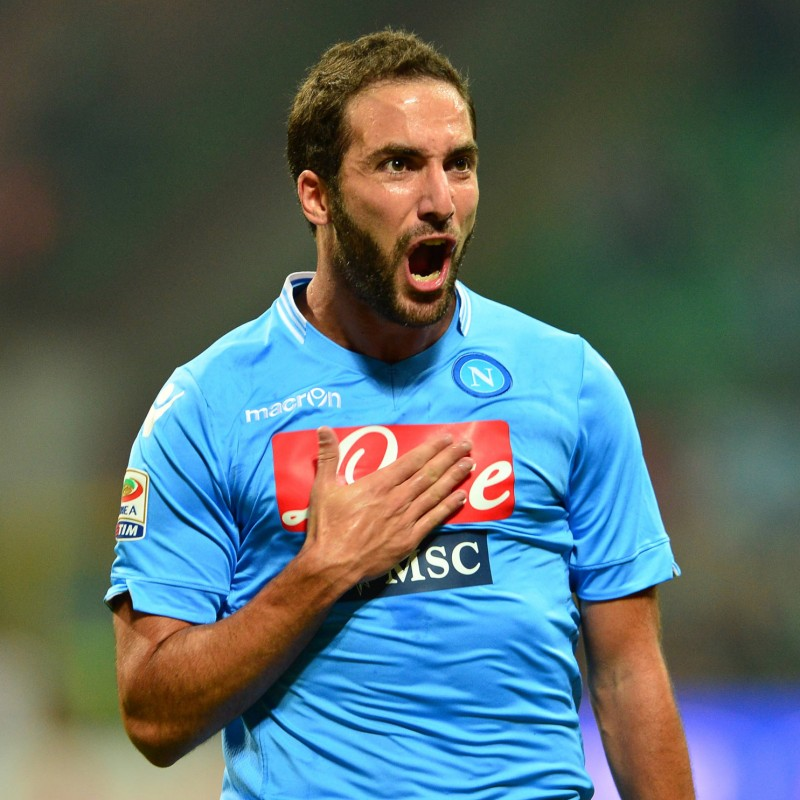 Higuain's Napoli Worn and Unwashed Signed Shirt
