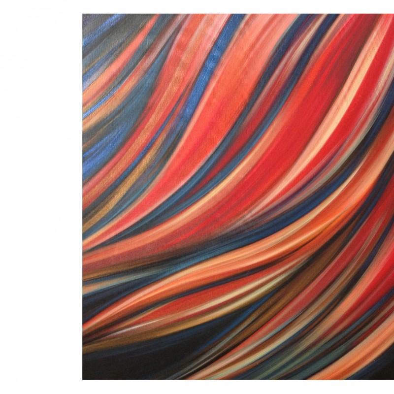 """A.Cacciatore """"Ciò che rimane"""" acrylic on canvas 80x60x3.5 cm"""