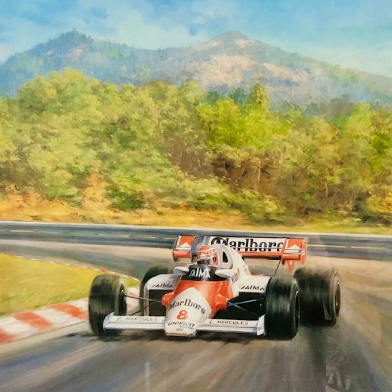 Niki Lauda 1984 Signed Print