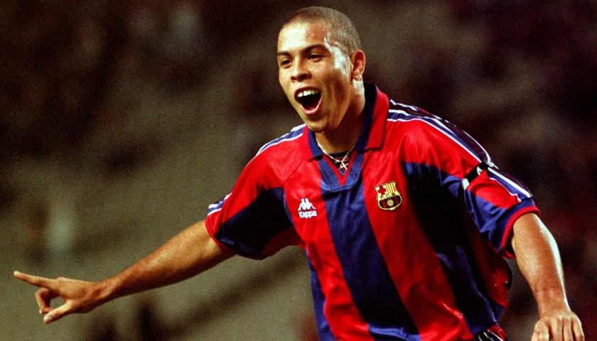 842b81ca2 Auction Ronaldo s Match-Issued Worn Barcelona Shirt