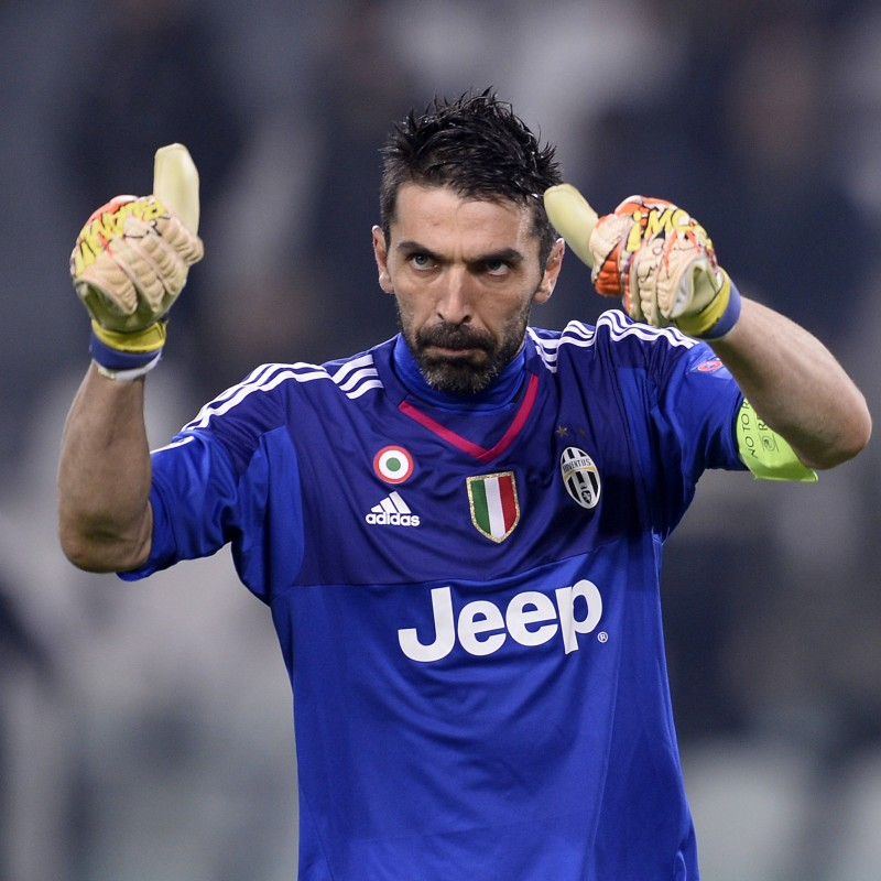 Buffon Match-Issued/Worn Shirt, UCL 2015/16