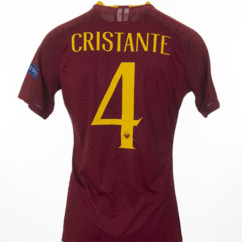 Cristante's Match-Issued Shirt, Porto-Roma CL 18/19