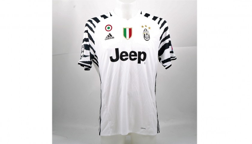 Chiellini's Match-Issued/Worn Juventus Shirt, Signed UCL 2016/17