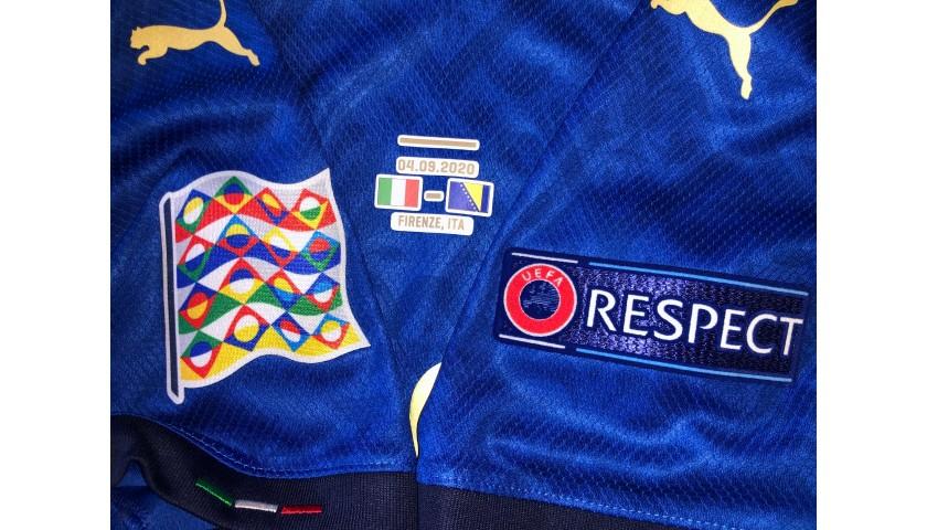 Bonucci's Match Shirt, Italy-Bosnia 2020