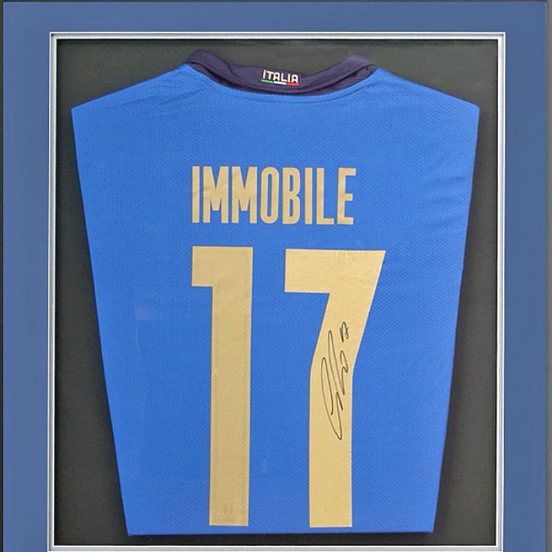 Ciro Immobile Hand Signed Italian Football Shirt