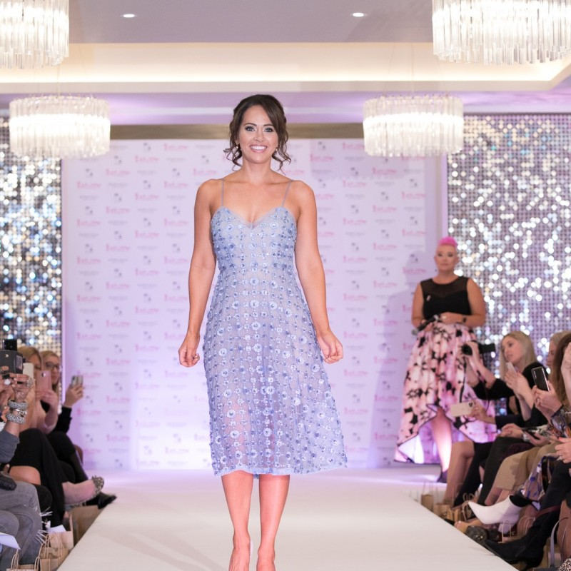 Periwinkle Aidan Mattox Dress Worn by Hayley Sparkes