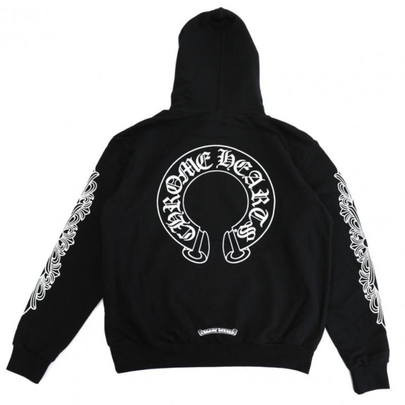 Chrome Hearts Horseshoe Sweats + Horseshoe Floral Cross Hoodie