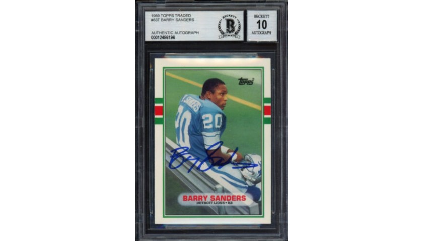 Barry Sanders Signed Rookie Card