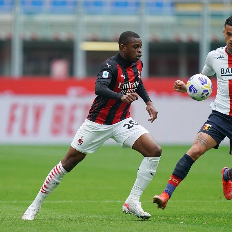 Kalulu's Worn and Signed Shirt, Milan-Genoa 2021