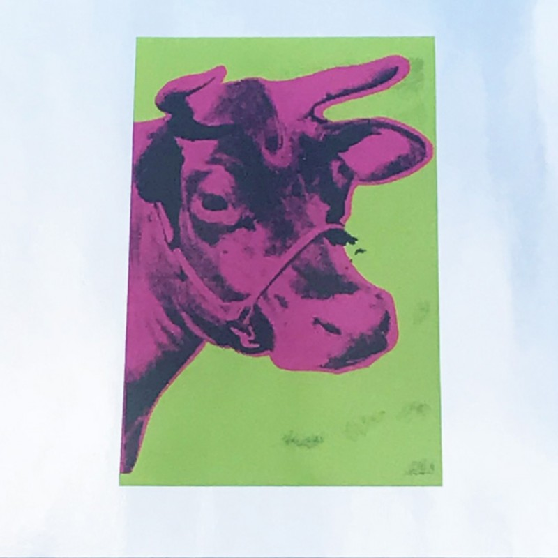 """Pink Cow"" by Andy Warhol"