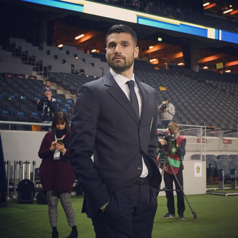 Italy National Football Team Official Suit Belonging to Antonio Candreva - Ermanno Scervino