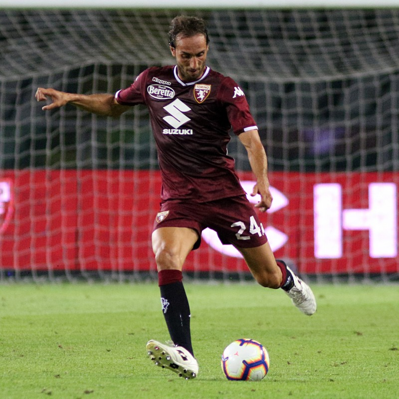 Moretti's Worn and Signed Shirt, Torino-Juventus 2018