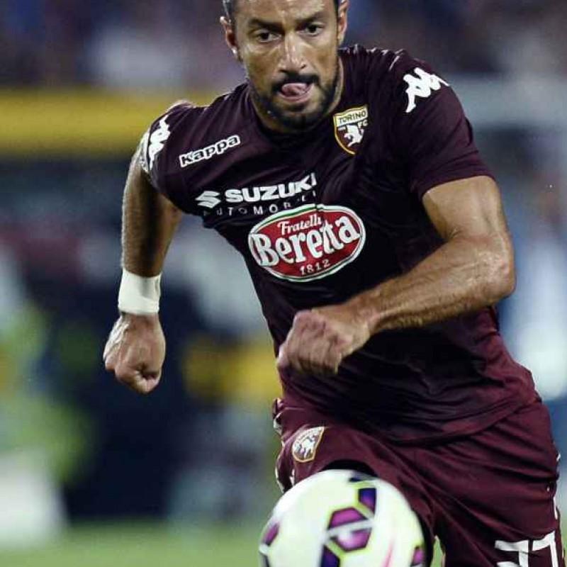 Quagliarella Torino issued/worn shirt, Serie A 2014-15 - signed