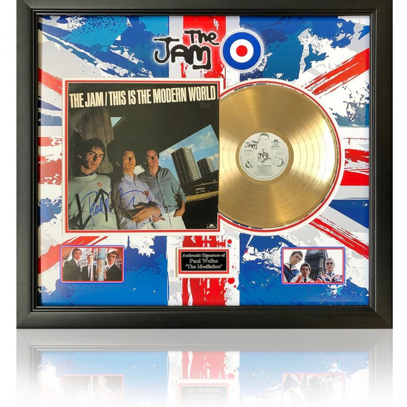 The Jam - Modern World Gold Disc Presentation Hand Signed by Paul Weller