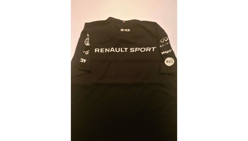 Official Renault Shirt Signed by Ricciardo and Hulkenberg