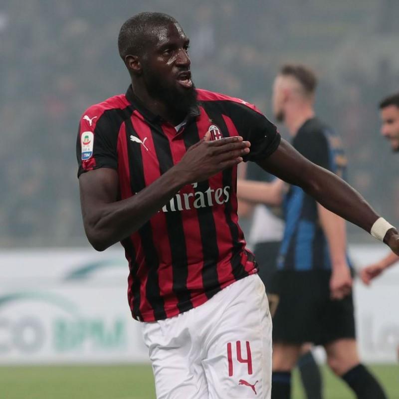 Bakayoko's Worn and Signed Shirt, Milan-Inter 2019