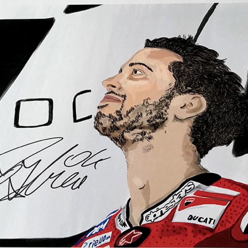 """Andrea Dovizioso: Race 11, Sliverstone"" by Tammy Gorali"