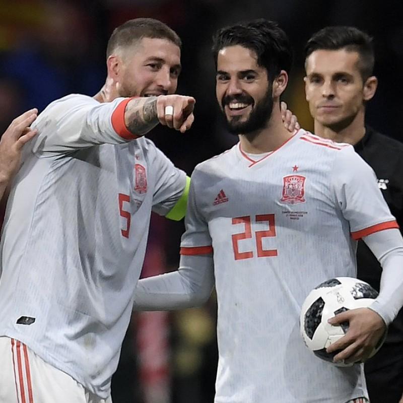 Isco's Match Shirt, Spain-Argentina 2018