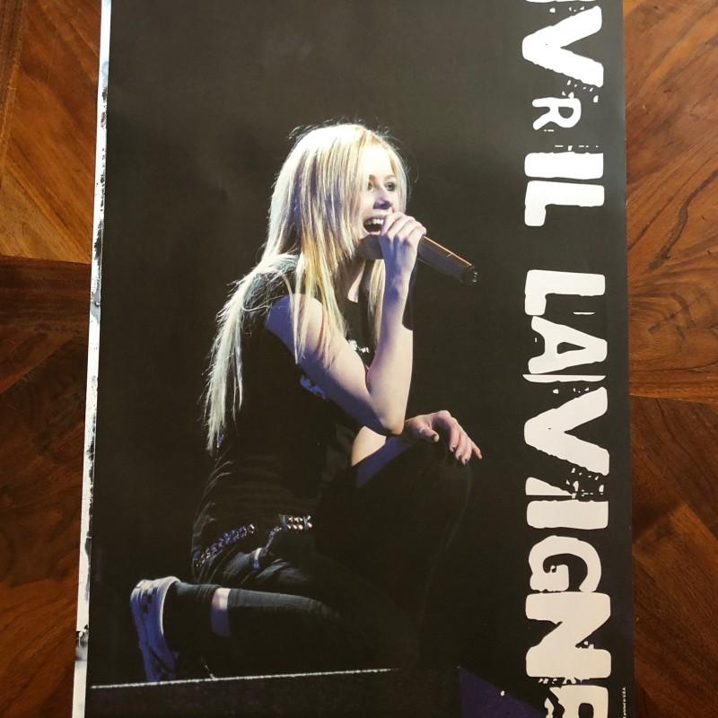 """Avril's """"Bonez Tour"""" Hand Signed Vintage Poster 1"""