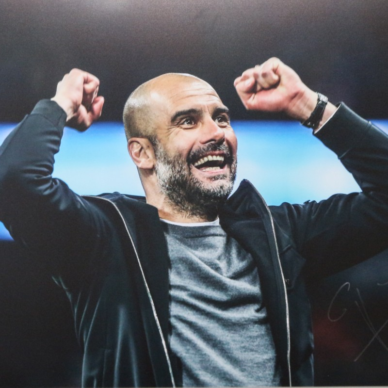 Pep Guardiola Manchester City A2 Signed Photograph