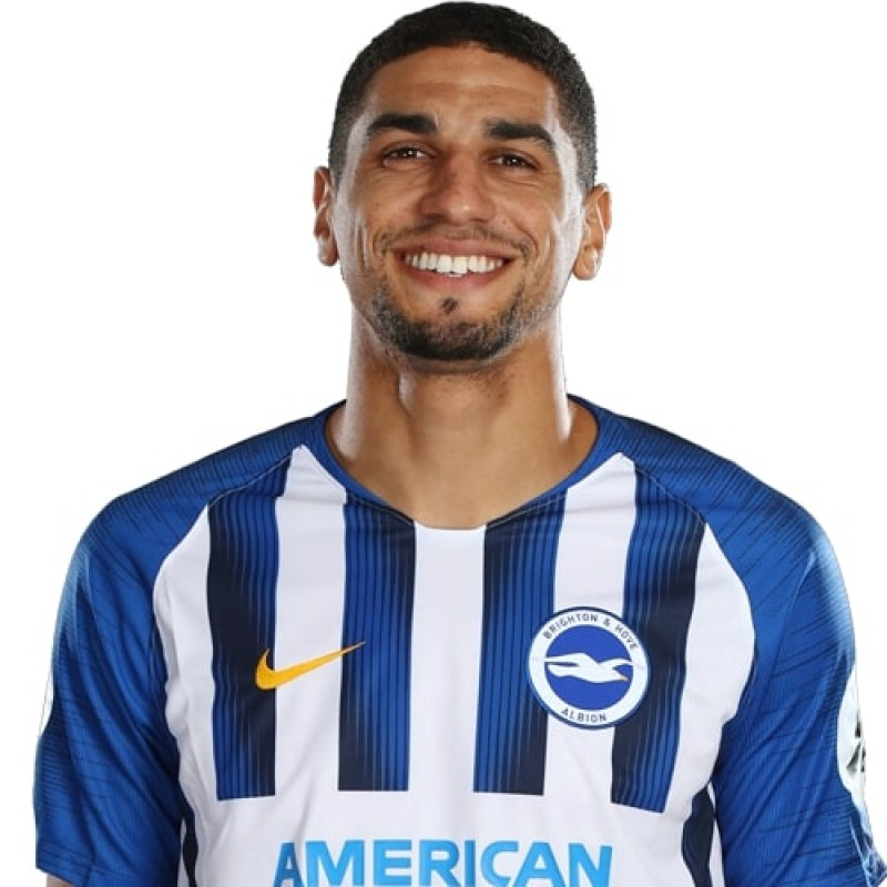 Leon Balogun's Brighton & Hove Albion Match-Issued and Signed Shirt, 2019/20