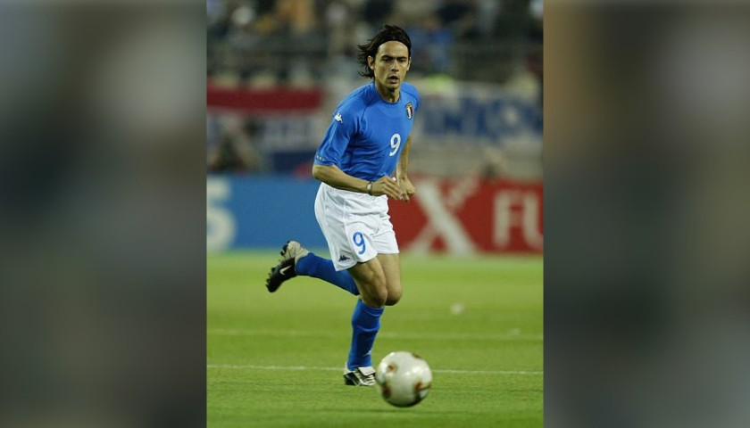 9bc0986105a Inzaghi s Italy Match-Issue Worn Shirt