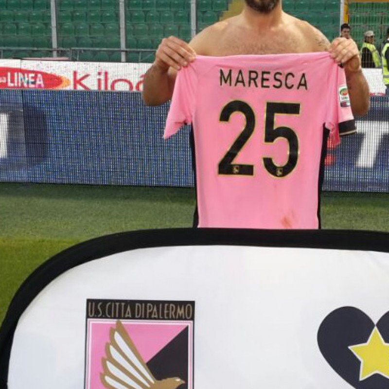Maresca match worn shirt, Palermo-Udinese, Serie A 14/15 - Unwashed, signed
