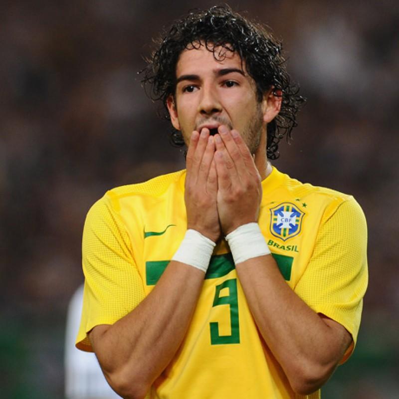 Pato's Brazil Match Shirt, Copa America 2011