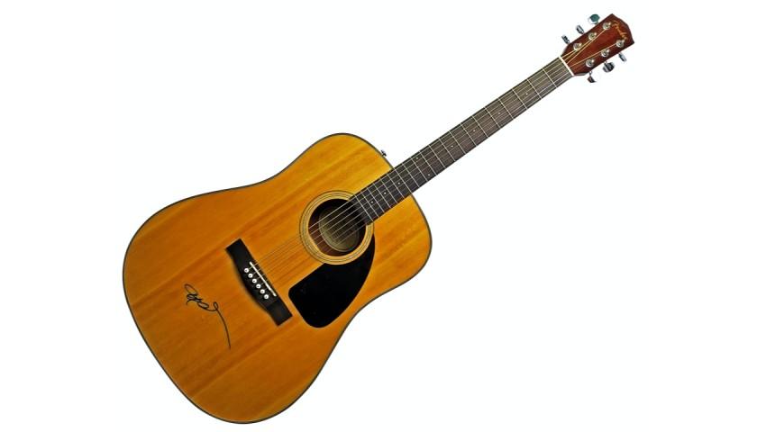 Willie Nelson Signed Fender Guitar
