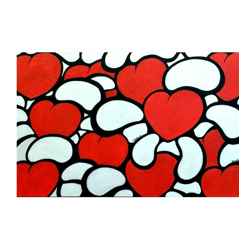 "M. Marzaroli ""Flowers115"" acrylic on canvas 120x60 cm"
