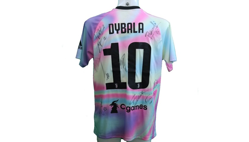 reputable site ac8e9 7b35b Dybala's Juventus EA Sports Shirt - Signed by the Squad - CharityStars