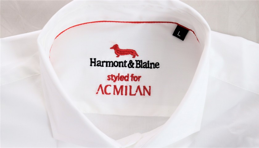 Harmont & Blaine White Shirt and Regimental Tie