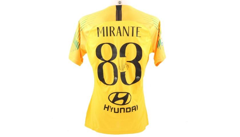 Mirante's Worn and Signed Shirt, Roma-Genoa 2018 - CharityStars