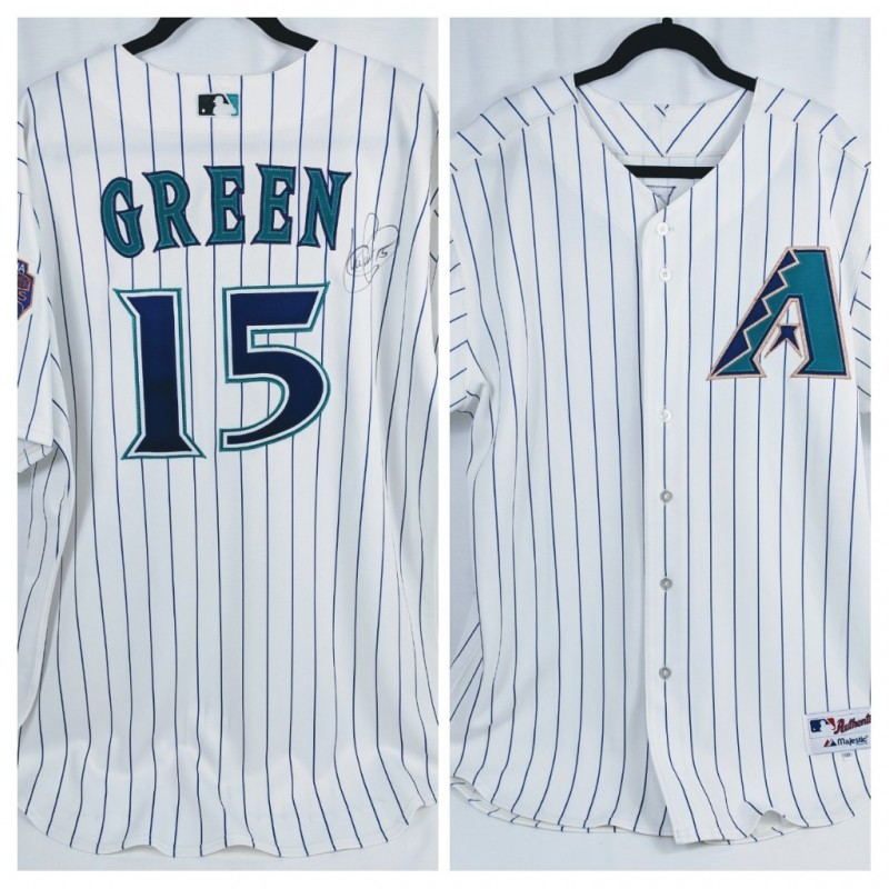 Signed Shawn Green Arizona Diamondbacks Jersey
