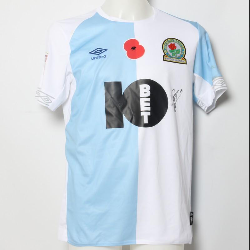 Ben Brereton's Match-Worn Blackburn Rovers Signed Poppy Home Shirt