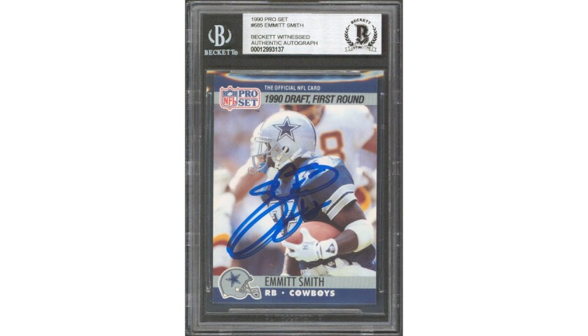 Emmitt Smith Signed Rookie Card
