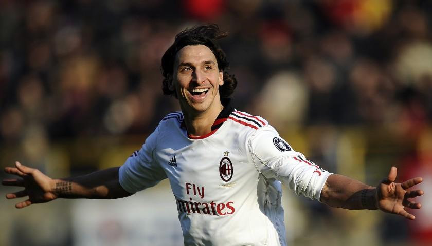 f91f14c4bf2 Ibrahimovic s Match-Issued Worn Milan Shirt