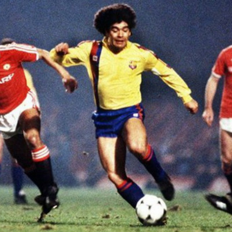 Maradona's Barcelona Match-Issued Signed Shirt, 1983/84
