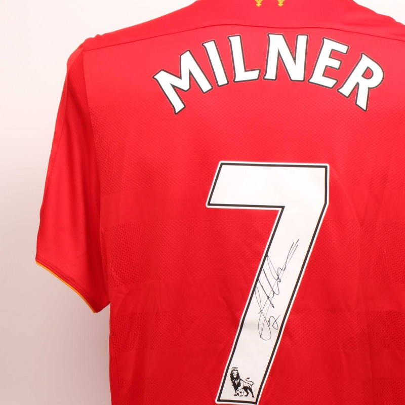 James Milner Worn and Signed Limited Edition 'Seeing is Believing' 16/17 Liverpool FC shirt