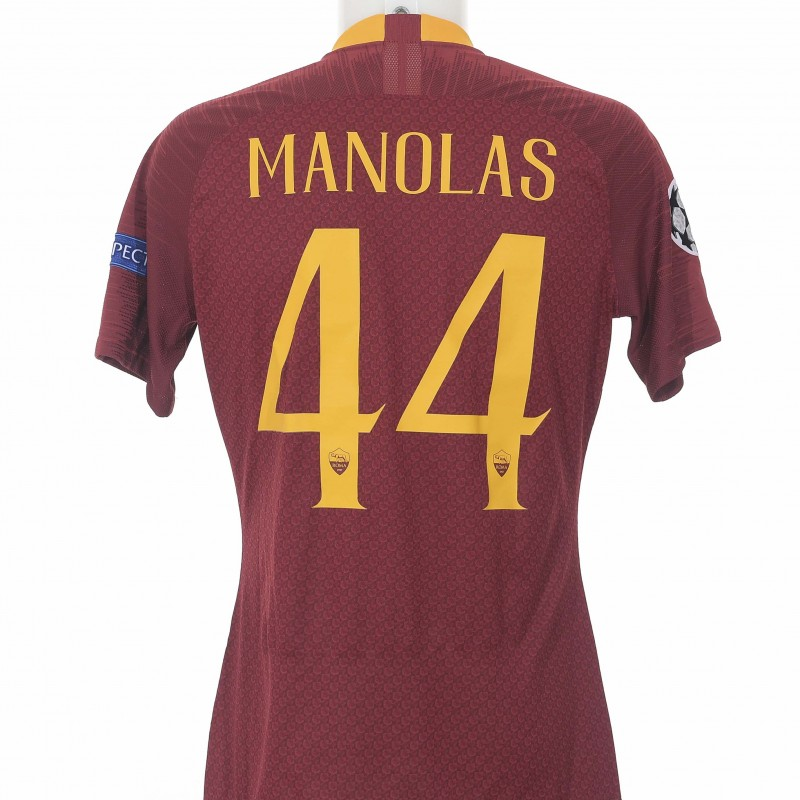 Manolas' Worn Shirt, Porto-Roma CL 18/19