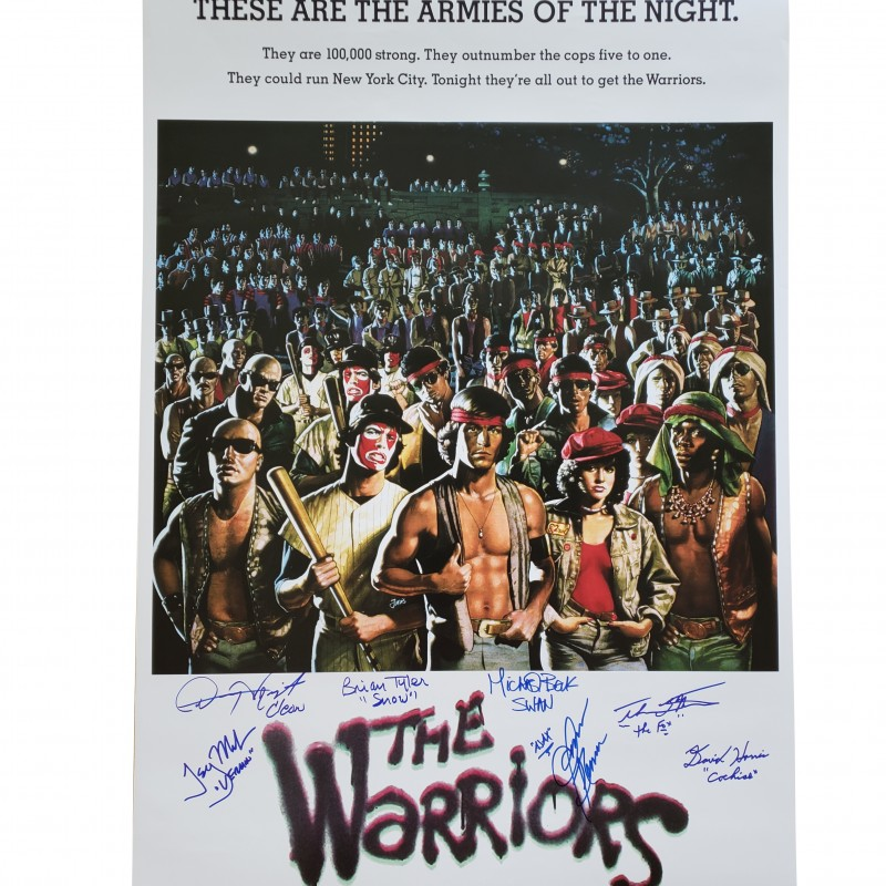 The Warriors Cast Signed Poster