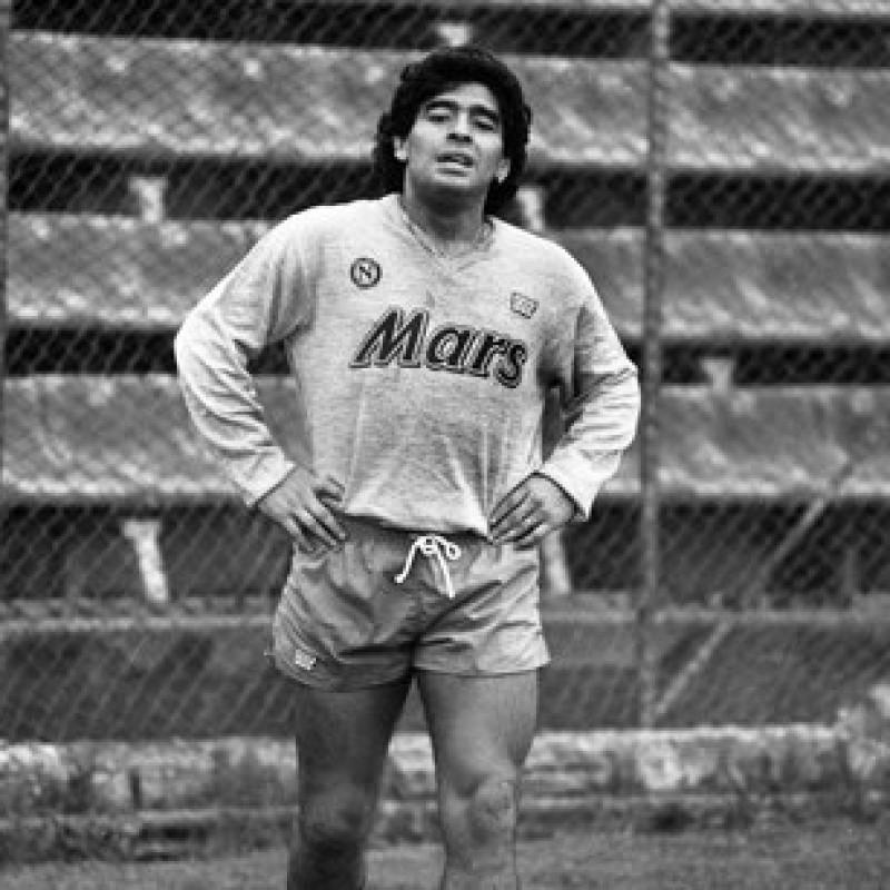 Maradona's Napoli Signed Training Shirt, 1988/89
