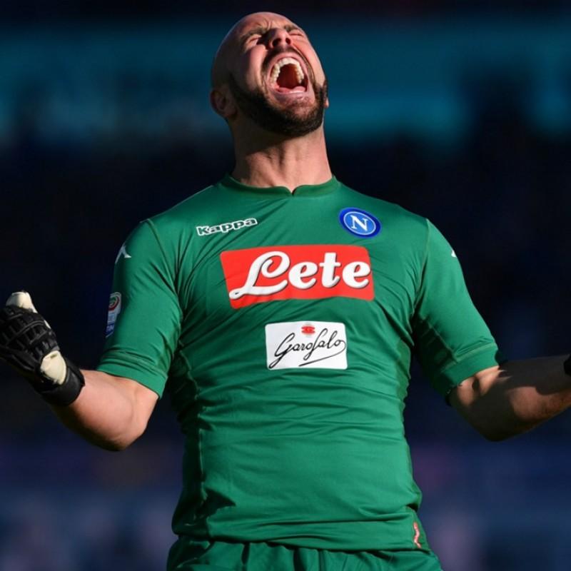 Reina's Atalanta-Napoli 2018 Worn and Signed Boots