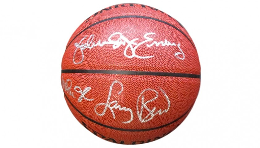 Basketball Signed by Larry Bird, Magic Johnson and Julius Dr. J