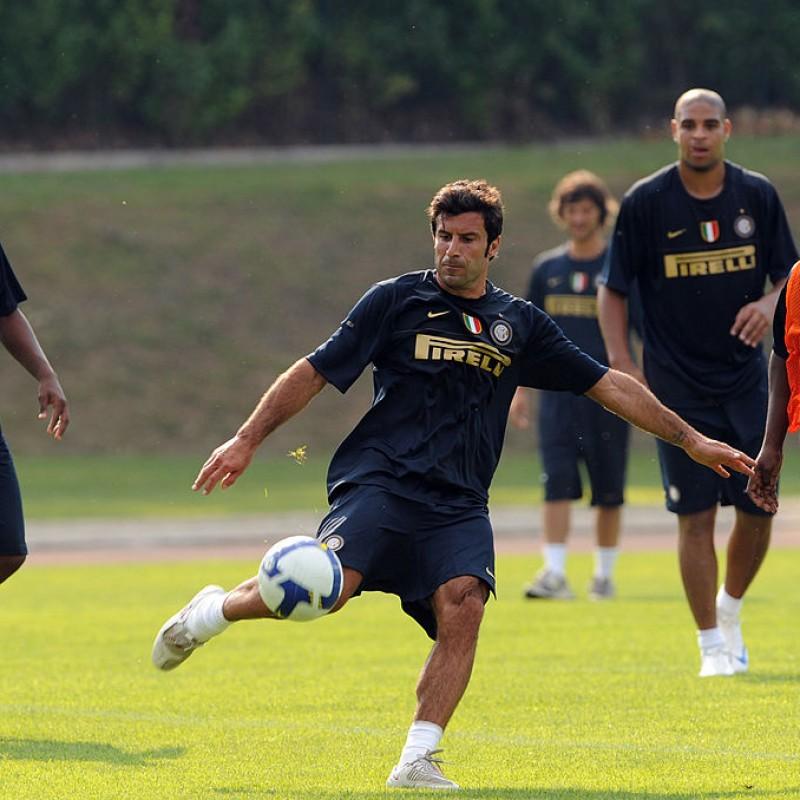Figo's Signed Practice-Worn Inter Shirt, 2008/09
