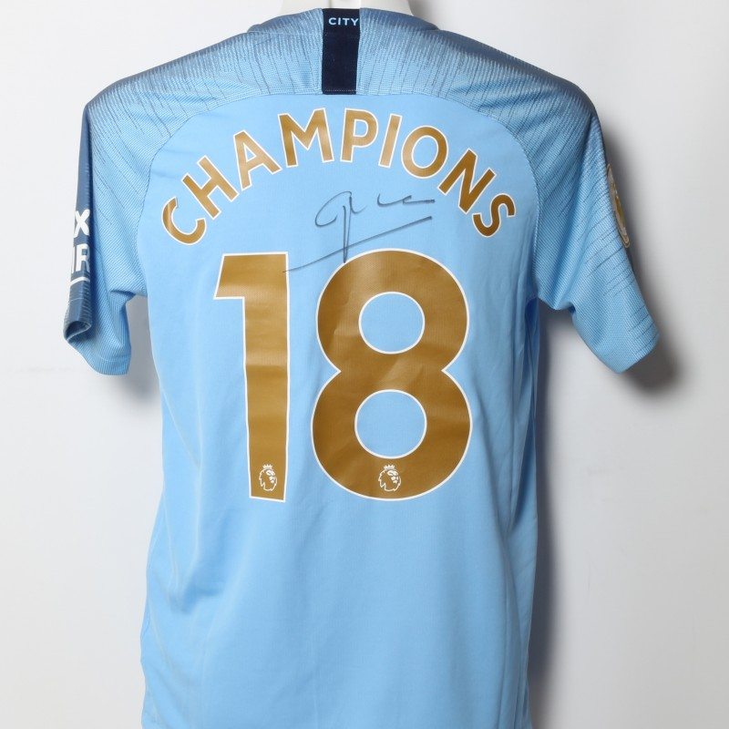 Pep Guardiola Champions 18 Signed Shirt